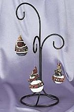 Ornament Hangers - Wrought Iron Tree - Set of 4