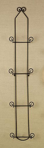 Plate Racks - Classic Vertical Four 6-1/2  - 8  Plates & Wrought Iron Vertical Plate Rack - Four 6
