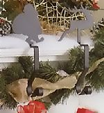 Wrought Iron Stocking Hangers - Santa or Reindeer