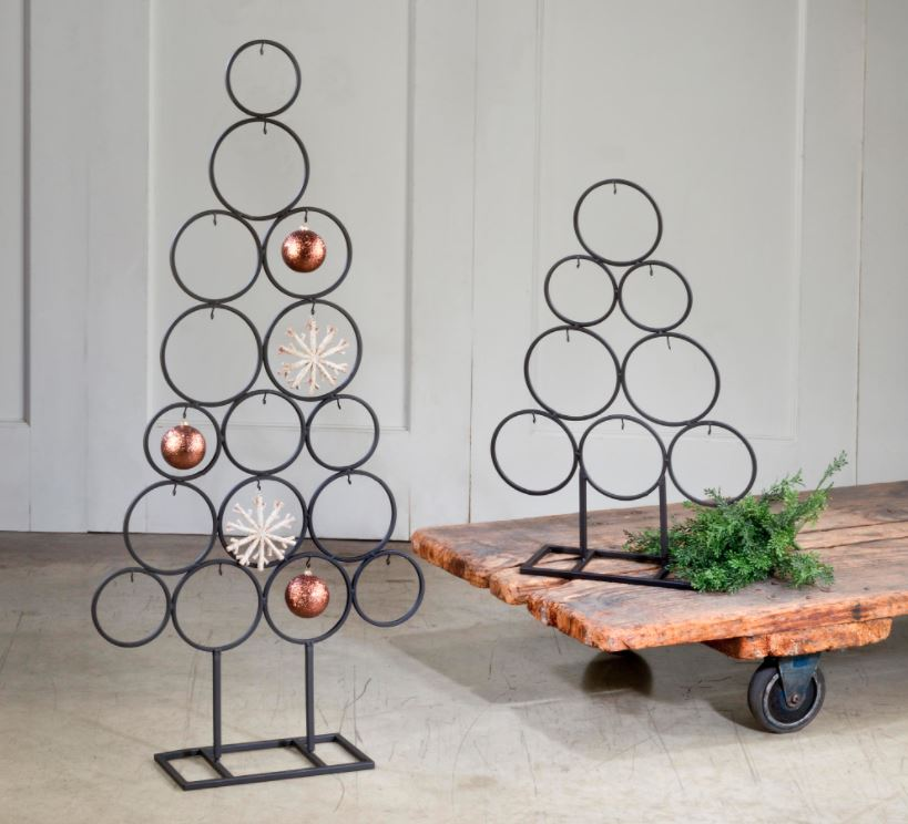 Ornament Display Trees - Set of Two Circle Trees