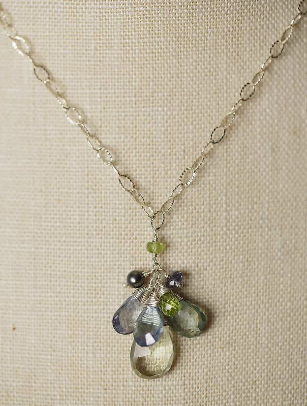 Anne Vaughan Designs - Tranquility Cluster Drop Necklace