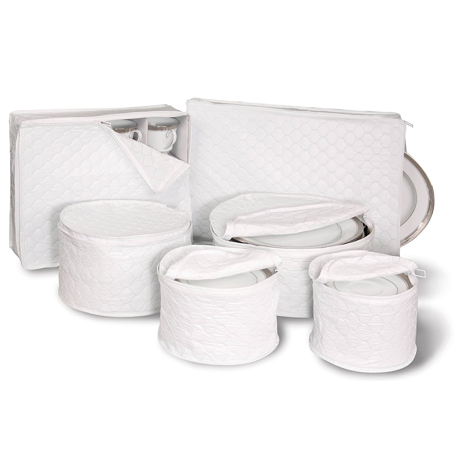 Dinnerware Storage - White 6 Piece Set