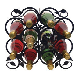 Wine Rack - Iron Leaf - 10 Bottles