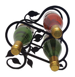 Wine Rack - Iron Leaf - 3 Bottle